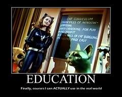CATWOMAN : On The Importance Of A Good Education (DarkJediKnight) Tags: television humor 1966 batman parody dccomics catwoman julienewmar motivationalposter