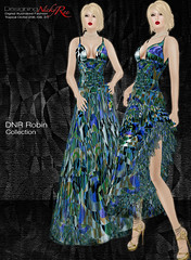 DNR Robin V Poster Blue (designingnickyree) Tags: clothing dresses gowns apparel nickyree slfashion resortfashion dnrrobincollection