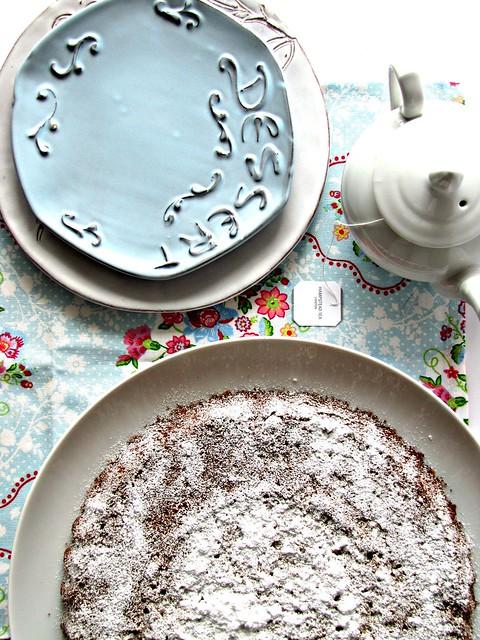 Torta di Grano Saraceno al Cioccolato con Mirtilli Rossi (2)