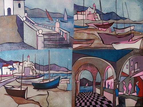 Sitges, Spain - Painting Original - Plexiglass