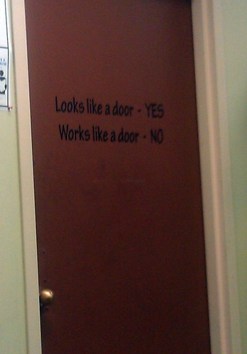 Looks like a door - YES. Works like a door - NO