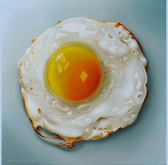 pinturas hiperrealistas de comida