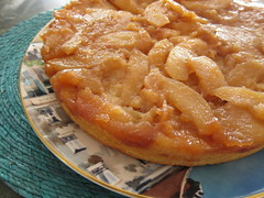 Upside-Down Apple Cake with Almonds