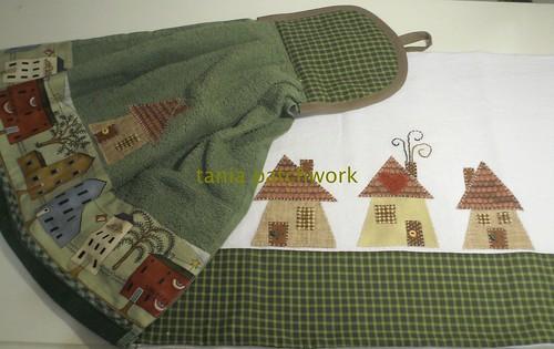 Kit Cozinha Casinhas Verde by tania patchwork
