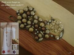 Colar artesanal. (CONCEIÇÃO TORRES - maria teimosa feminina) Tags: dourado colar contas ouro colarlongo colarartesanal