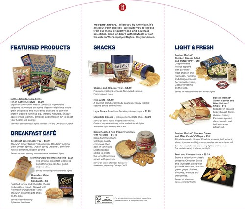 American Airlines Menu Page Two