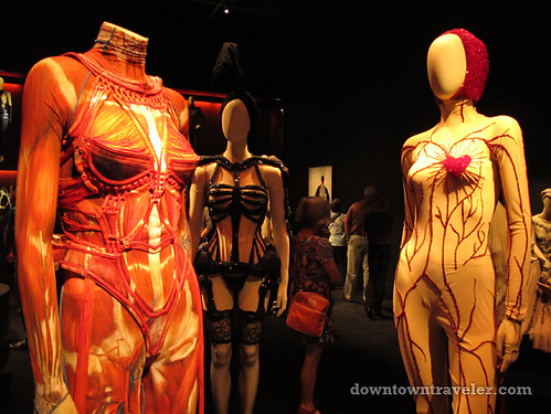 Jean Paul Gaultier human body stocking at Montreal art museum