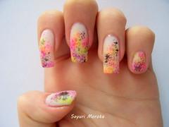 Esponja (Sayuri Morota) Tags: pink nail rosa preto amarelo esponja impala nailpolish unhas risque roxo nailart unha renda capricho esmaltes esmalte colorama tecnicaesponja