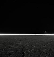 Interstate 80, Utah (austin granger) Tags: film night square utah streetlight flat time empty salt freeway civilization bonneville humans interstate80 saltflat yashicamat artlibres austingranger
