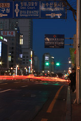 Suwon_streets (JrBenito) Tags: street night lights rua traillight