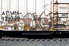(everkamp) Tags: seattle railroad graffiti washington trains huge unionpacific freight reefer rollingstock chilledexpress armn railart benching