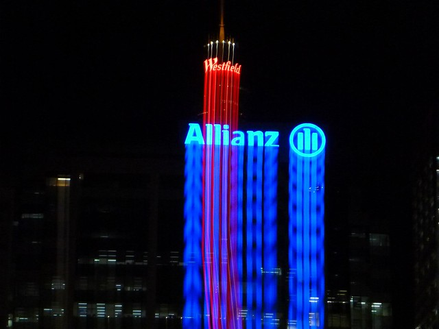 Allianz & Westfield Centrepoint Tower - Night Lightpainting Sydney City CBD