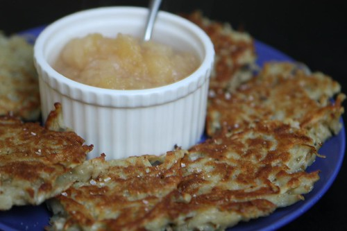 Potato Latkes with Apple Sauce