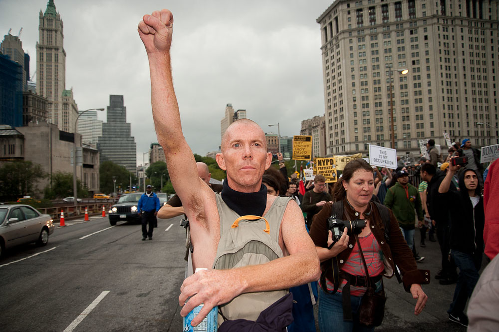 Occupy Wall Street Occupies the Brooklyn Bridge ©2011 Adrian Kinloch CC BY-NC-ND 2.0 - DOOM! Magazine