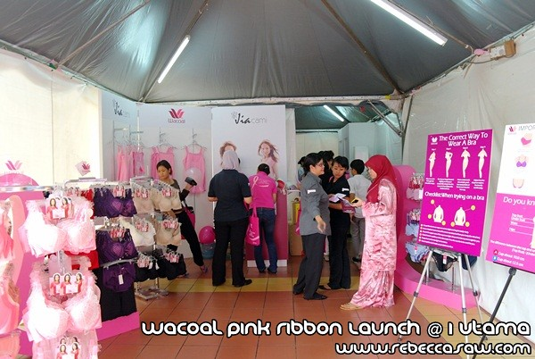 Wacoal Pink Ribbon Launch @1 Utama-1