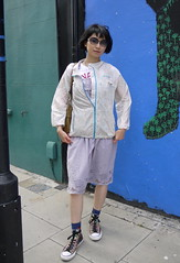 Holiday Look 10.1: Lilac Mid-Length Dress with Columbia Jacket (triphopstress) Tags: summer white london girl fashion photo outfit dress purple style jacket converse wardrobe taiwanese streetfashion streetstyle