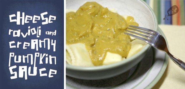 Ravioli with Creamy Pumpkin Sauce