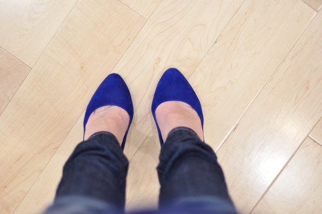 blue suede shoes