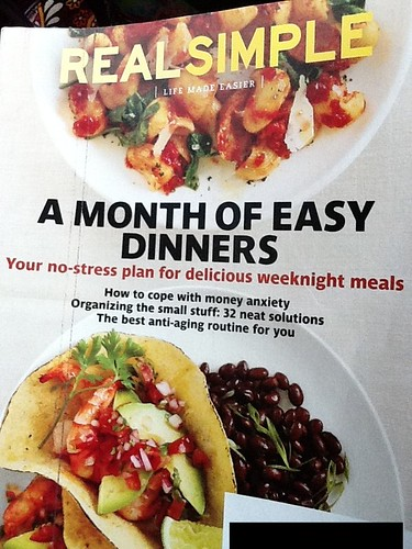 Menu plan and adapting Real Simple's 4 weeks of dinners