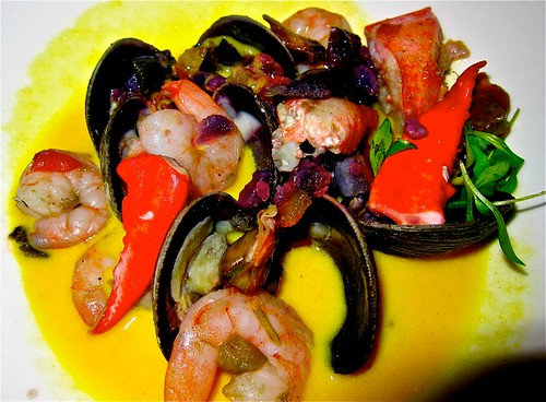 Chupe de Mariscos is seafood soup