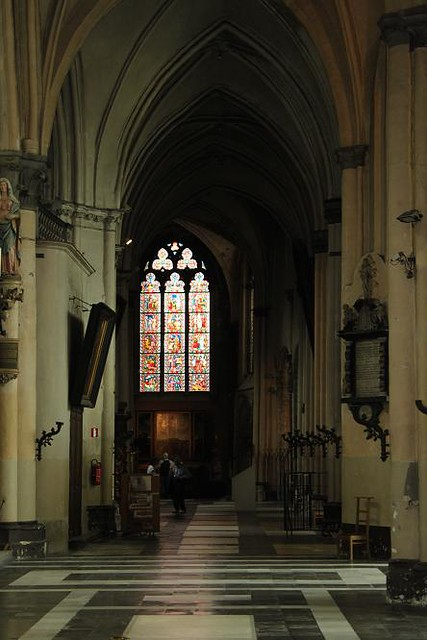 inside view of church and stained glass