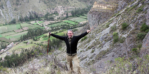 Overlooking Ollantaytambo