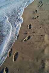 Footprints (chasingmyhalo) Tags: ocean beach sand florida footprints dslr 1610 sonyalphaa230