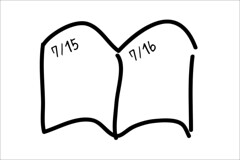 日付け入りノート