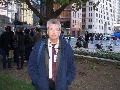 Attorney Bob Hart helping with legal aid for Occupy Columbus
