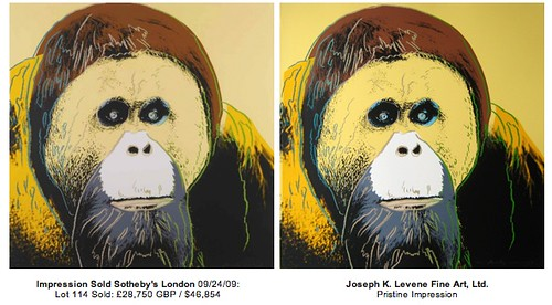 The same Andy Warhol Screenprint IS NOT always the same!