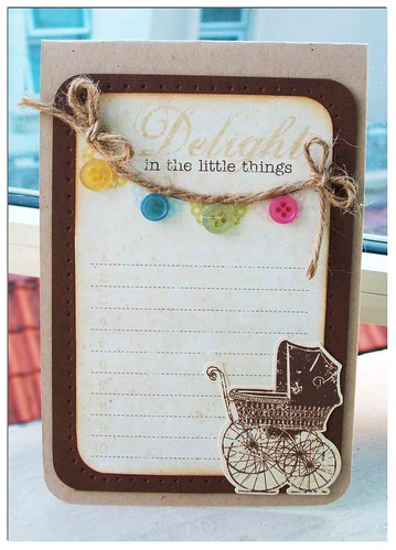 Delight in the little things card