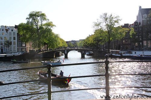 Canal and Amstel River, Amsterdam
