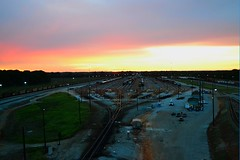 Norfolk Southern Sheffield Yard, Alabama (BDM17) Tags: road railroad morning yard train sunrise dawn al track muscle sheffield norfolk alabama rail railway southern shoals classification retarder