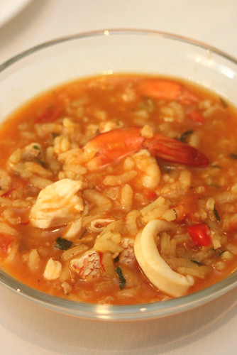 Arroz a la Cazuela (Spanish style Seafood Risotto) as cooked by Chef Wan
