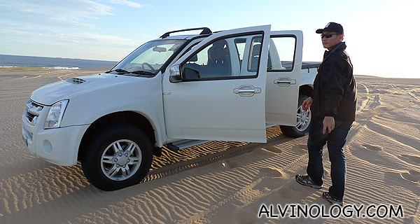The 4WD car which we rode in with Andrew