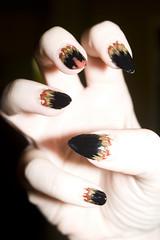 Nails did: 19/10/11 (B_Zedan) Tags: halloween werewolf nails nailart talons naturalnail