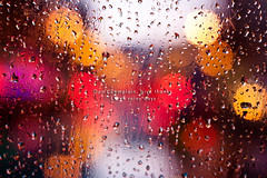Don't complain, give thanks. Love rainy days. (Cocoa Bean.) Tags: window canon 50mm dof bokeh 14 sigma waterdroplets rainydays lovelife 500d raindropsonglass