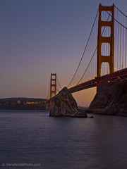A distant ship's smoke on the horizon (Dave Arnold Photo) Tags: sf sanfrancisco california ca bridge sunset usa us photo image picture pic calif goldengatebridge photograph goldengate sanfranciscobay ggb westernus davearnold davearnoldphotocom