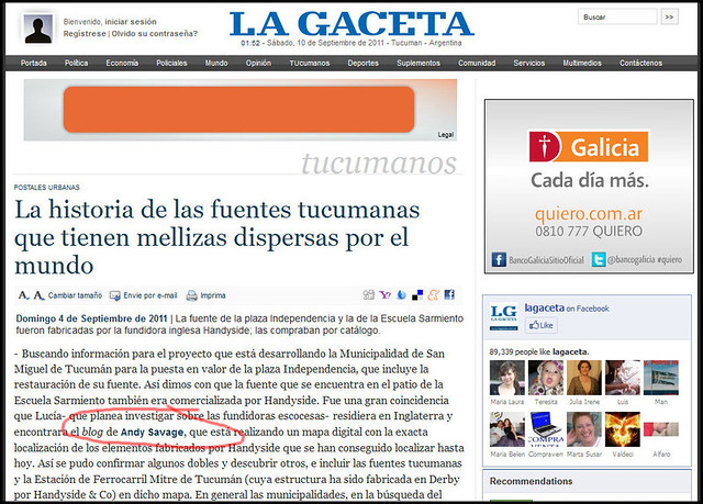 La Gaceta Sept 2011 Spanish cropped