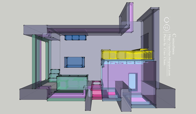 [W&L] 私人小坪數套房設計 1 ~  SketchUp + VRay 昏頭篇 0905-02