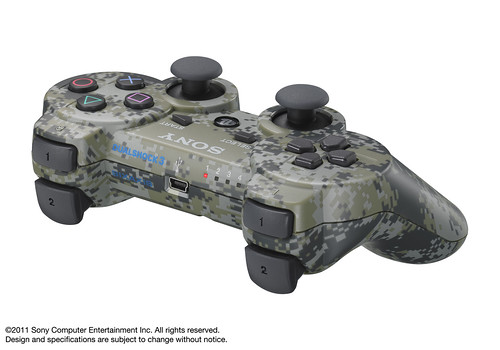 PlayStation Peripherals: Urban Camoflauge Bluetooth DUALSHOCK 3