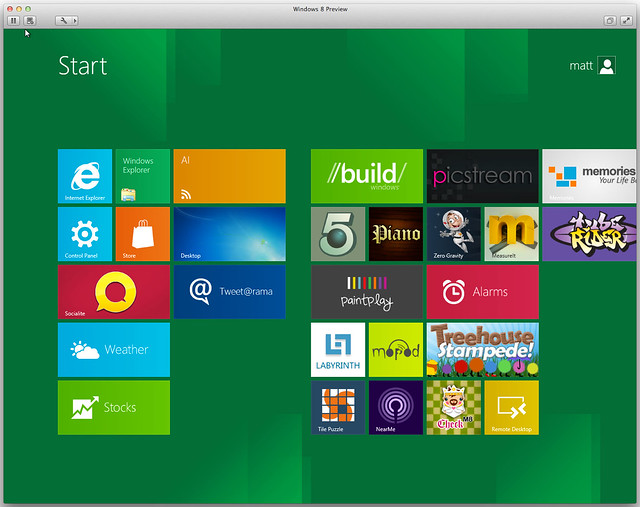 Windows 8 in VMware Fusion 4