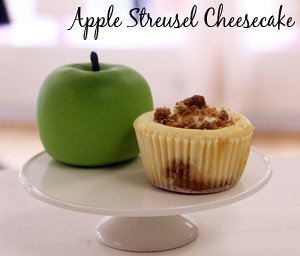 Apple Streusel Cheesecake Cupcake