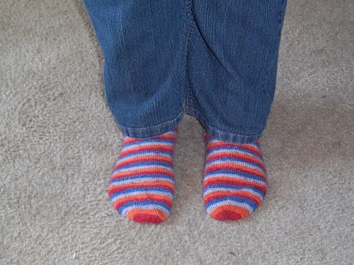Fall is here. Knitted Socks!!