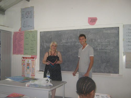 Clare & Mike trying the African style teaching!.jpg