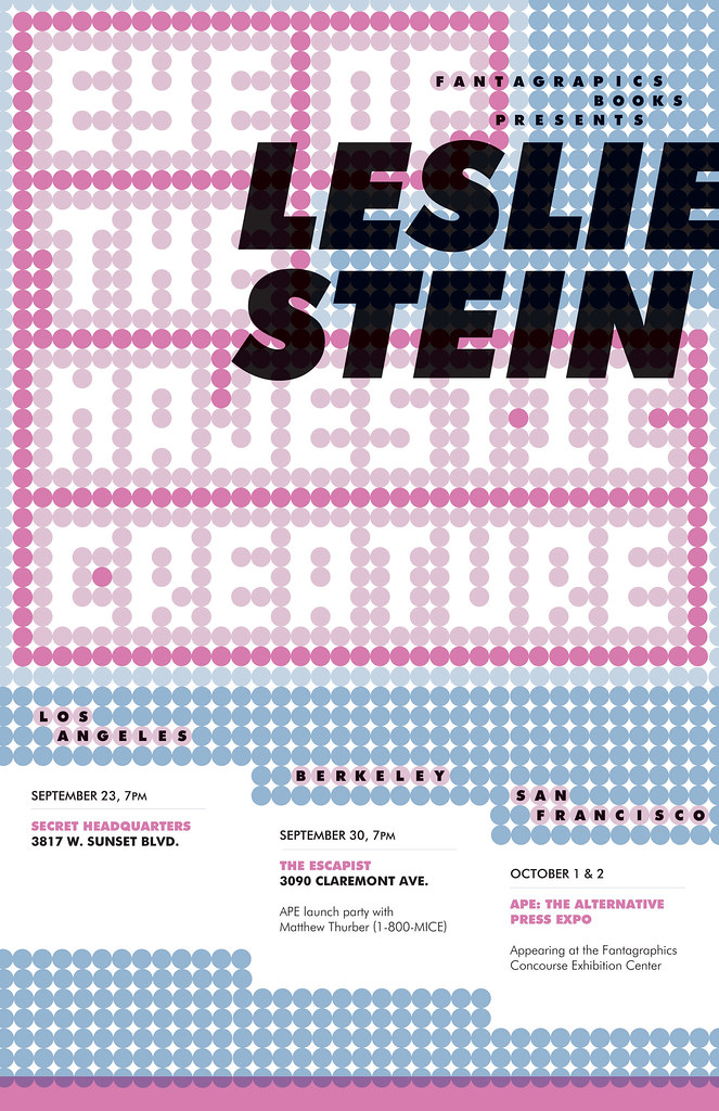 Leslie Stein West Coast 2011 tour poster
