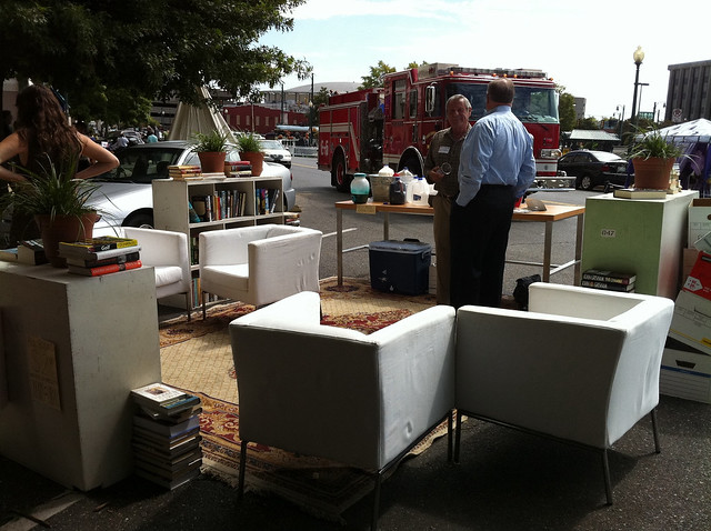 Crosstown Arts Human Library, Parking Day