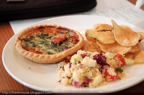 Group Therapy - Quiche with Salad and Chips