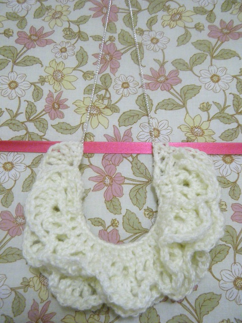 Cream Crochet Necklace