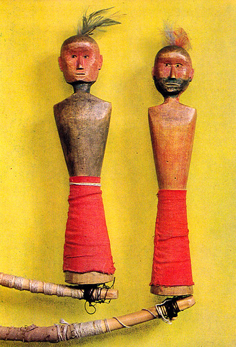 Pair of dolls used to perform magic tricks